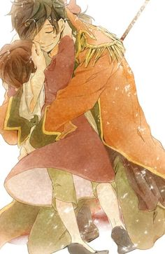 Spain and Romano. so sweet!