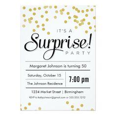 Confetti Surprise Party Invitation 70th Birthday Invitations Themes