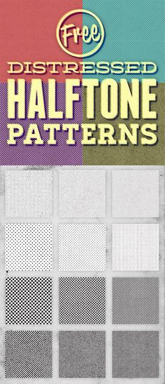 12 Free Distressed Halftone Patterns #pattern #free [www.pinterest.com/loganless/]