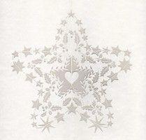 Décor de fenêtre en forme d'étoile pour Noël - Atelier Michèle Wagner