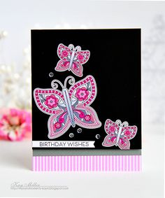 Birthday Wishes Card by Kay Miller for Papertrey Ink (February 2016)