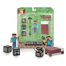 Minecraft - Figure with Accessories - Overworld Steve Core Player Survival Pack