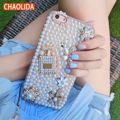 YESPURE 360 Protect Case for Iphone 7 Plus Mobile Phone Shell Pearl Diamond Perfume Bottle Silicone Phone Case Accessories Sparkly Phone Cases, Girl Phone Cases, Iphone Cases, Apple Iphone 6, Mobiles, Iphone 7 Plus, Silicone Phone Case, Fancy, Mobile Cases