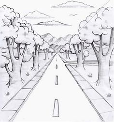 Perspektive 101 Perspective One Point Drawing, - Top-Trends Perspective Drawing Lessons, Perspective Sketch, One Point Perspective, How To Draw Perspective, Pencil Art Drawings, Art Drawings Sketches, Easy Drawings, 5th Grade Art, Elements Of Art