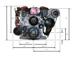 LS Engine Dimensions- always important! Ls Engine Swap, Car Engine, Crate Motors, Ls Swap, 1955 Chevy, Muscle, Chevy Pickups, Car Shop, Car Parts