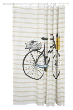Great Bicycle Shower Curtain   Main