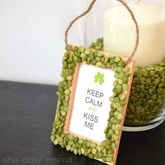 DIY Kiss Me Sign for St. Patrick's Day Party