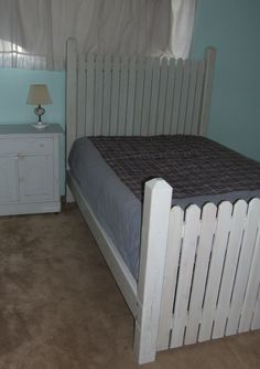 This Is A Picket Fence Inspired Bed Was Hand Crafted Made From Scratch Out Of Cedar
