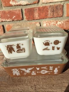 A personal favorite from my Etsy shop https://www.etsy.com/listing/259876164/vintage-pyrex-refrigerator-set-early