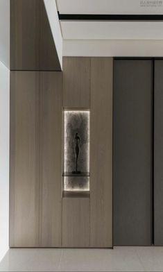 Niche Design, Wall Design, House Design, Home Interior Design, Interior Architecture, Lobby Design, Wall Treatments, Cabinet Design, Living Room Designs