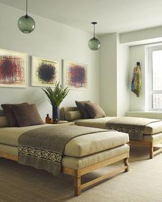 Upholstered twins / Huniford.com