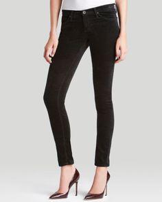 AG Jeans - Super Skinny Velvet Legging in Super Black