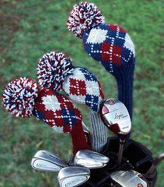Argyle golf club cover knitting pattern - $4.50