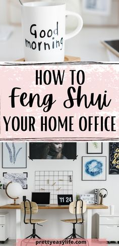 Best tips on how to Feng Shui your home office to become more productive #fengshuihome Office Fung Shui, Feng Shui Home Office, Decorating Small Spaces, Decorating Your Home, Feng Shui Principles, How To Feng Shui Your Home, Home Organization Hacks, Organize Your Life, Love Home