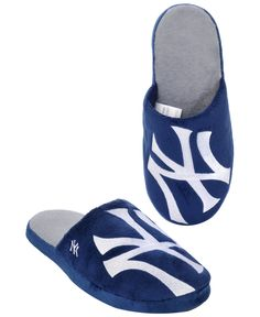 673e2928b22 Forever Collectibles Men s New York Yankees Big Logo Slippers   Reviews - Sports  Fan Shop By Lids - Men - Macy s