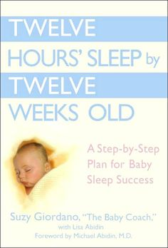 I read this book when my baby was 6 weeks and he was sleeping through the night by 9 weeks. Had to tweak the suggestions a bit to fit into our family schedule. It gives advice on getting mutiples to sleep through the night, as well. Definitely worth a try, it sure worked for us!