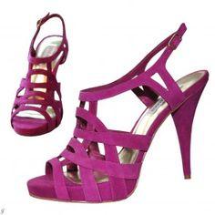 Label sandal, cyclam