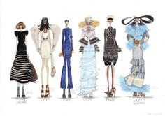 always loved fashion illustrations.