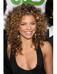 Annalynne McCord - curly hair color