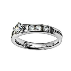 """Christian Womens Stainless Steel Abstinence Songs of Solomon 6:3 """"I Am My Beloved's and He is Mine"""" Princess Solitaire Chastity Ring for Girls - Girls Purity Ring - Comfort Fit Ring Spirit & Truth. $35.95"""