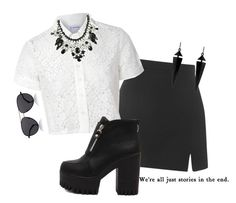 """""""we're all just stories in the end"""" by geminigal0699 ❤ liked on Polyvore featuring Topshop, Glamorous, Oasis and The Row"""