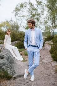 Stéphan Ricard co-inventor of la marque Samson nous livre aujourd'hui ses Blazer For Men Wedding, Casual Wedding Attire, Casual Grooms, Blue Suit Wedding, Wedding Men, Wedding Suits, Wedding Blog, Grey Blazer Outfit, Pink Blazer Outfits