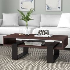 Wrought Studio Swanson Coffee Table with Tray Top Table For Small Space, Luxury Furniture, Coffee Table Design Modern, Decor, Furniture, Table, Coffee Table, Home Decor, Coffee Table With Storage