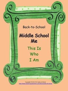 Back to School - MIDDLE SCHOOL ME