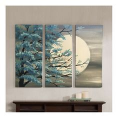 Three Canvas Painting, 3 Canvas Paintings, Canvas Painting Designs, 3 Piece Canvas Art, Texture Painting On Canvas, 3 Piece Painting, Diy Canvas Art, Easy Paintings, Oil Paintings