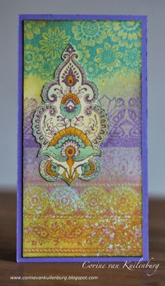 Corine's Art Gallery: Chocolate Baroque: Indian Textiles and Floral Edges Baroque Design, Baroque Art, Journal Themes, Journal Art, Art Journaling, Indian Textiles, Card Maker, Card Sketches, Card Tags