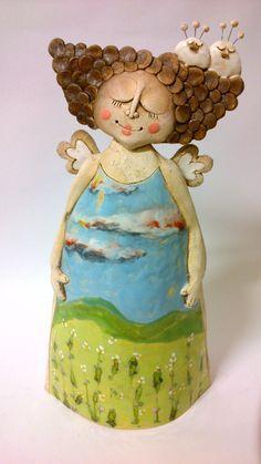 35 x 17 Sculpture Textile, Pottery Sculpture, Sculpture Clay, Ceramic Clay, Ceramic Pottery, Pottery Art, Ceramic Figures, Clay Figures, Ceramics Projects