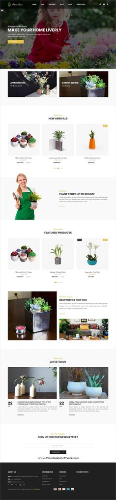 Plant is clean and modern design 4in1 responsive #Prestashop theme for gardening, #organic farm and green grocery #shop eCommerce website to download & live preview click on image or Visit #webdev