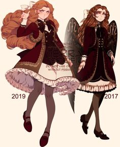 """""""I wanted some fresh validation so I put a drawing of Priscilla I did yesterday beside a drawing I did of her 2 years ago. Female Character Design, Character Design Inspiration, Character Art, Character Ideas, Cute Characters, Fantasy Characters, Cute Girl Drawing, Pretty Drawings, Goth Art"""