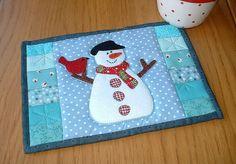 Snowman Mug Rug | Flickr - Photo Sharing!
