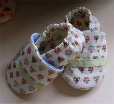 AMO CRAFT: Sapatinho de tecido para bebê