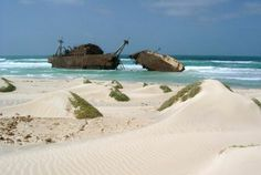 The shipwreck on Boa Vista, Cape Verde Islands. Go there before it becomes just another tourist destination. Cape Verde Holidays, Travel Pictures, Travel Photos, Places To Travel, Places To See, Last Minute Travel Deals, Cap Vert, Destinations, Le Cap