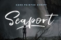 Seaport - A Hand Painted Script Fonts **For every font purchased, 10 trees are planted!**---Introducing **Seaport script** - *A hand pai by Font Forestry Handwritten Fonts, Calligraphy Fonts, Script Fonts, Font Logo, Commercial Fonts, 10 Tree, Typography Love, Brush Font, Creative Sketches