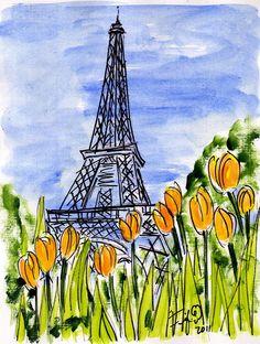 Tulips Eiffel Tower by Fifi Flowers