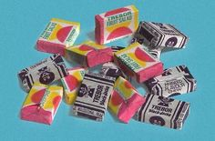 Black Jacks and Fruit Salad - used to buy these at three for a penny in pre-decimal coinage.  Then the price was hiked up to three for a new penny as the UK went headlong into price inflation, causing the dark days of the 1970s when wages couldn't keep up!