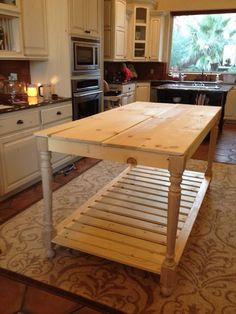 build your own diy furniture style kitchen island vanities legs and islands - Kitchen Island Table