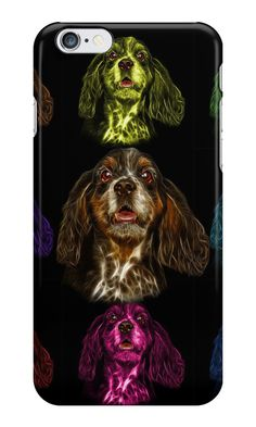"""""""cocker spaniel dog art - 8249"""" iPhone Cases & Skins by Rateitart 