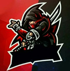 Logo Esport, Art Logo, Ninja Logo, Logo Dragon, Cute Black Wallpaper, Scary Wallpaper, Youtube Banner Design, Game Logo Design, Anime Character Drawing