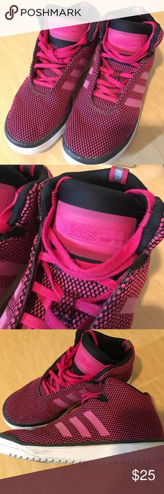 Adidas Veritas youth high top mid - pink. Youth shoe, youth 6.5 woman's 8. Fitfoam insoles are super comfortable. Pivot point, great for dance or athletic wear. Adidas Shoes Sneakers