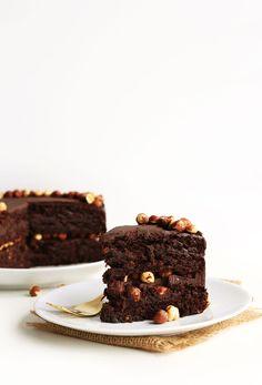 AMAZING Vegan Chocolate Hazelnut Cake! 1 bowl, SUPER RICH, and #glutenfree