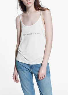 Message printed t-shirt