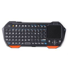 Universal Mini Bluetooth Keyboard With Touchpad for Android iOS Windows - Black