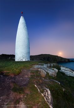 The Baltimore Beacon is a white-painted stone beacon at the entrance to the harbour at Baltimore, County Cork, Ireland.
