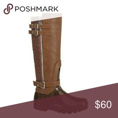 Boutique Riding Style Rain Boots ☔️ These are super cute boots with inner zippers that are perfect for the rainy and cold season! They feature a riding style with buckles and brown, vegan leather material. These boots are size 9 and fit true to size. They have only been worn once and are in new condition! Happy poshing 🎀 Forever Shoes Winter & Rain Boots