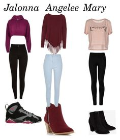 """""""Me and my besties in high school"""" by jalonnafreeman ❤ liked on Polyvore featuring beauty, River Island, Wolford, Billini, Dorothy Perkins, ONLY and Boris"""