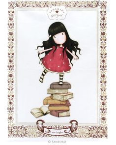 Gorjuss Tea Towel - New Heights from Santoro